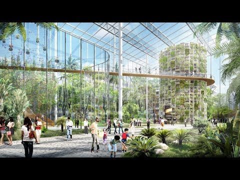 Vertical farm designed to produce food amidst Shanghai's sky