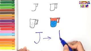 How To Draw and Color a Jug Easy Steps By Step How ✅To Teach Baby To Speak English