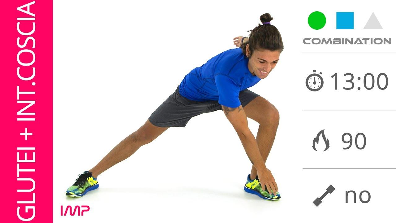 snellire le gambe esercizi per glutei e interno coscia a On interno coscia a corpo libero