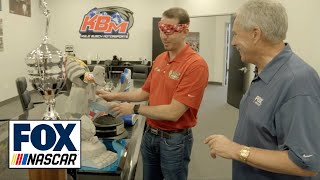 Kyle Busch shows Darrell Waltrip where he keeps his 200+ NASCAR trophies | NASCAR on FOX
