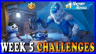 FORTNITE SEASON 7 WEEK 5 CHALLENGES! - FROZEN LEGENDS PACK IS AVAILABLE // Playing With SUBSCRIBERS