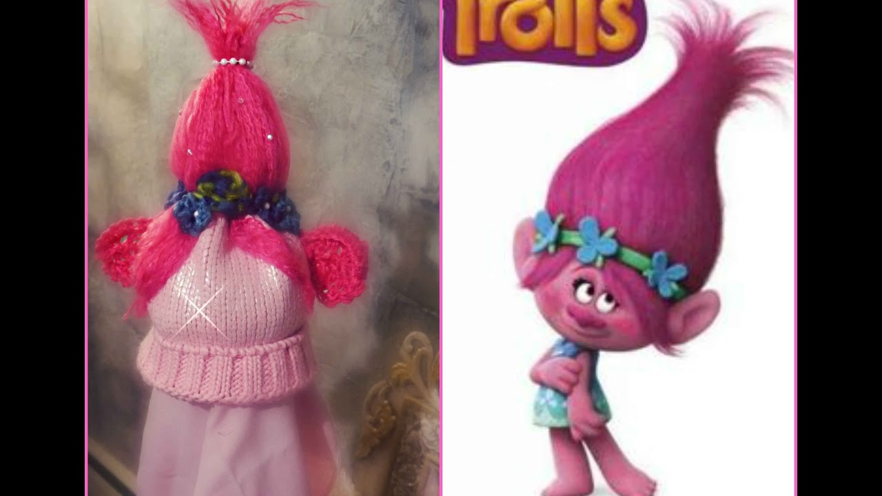 Polly Troll crochet   knit hat - YouTube 693aab50c4c