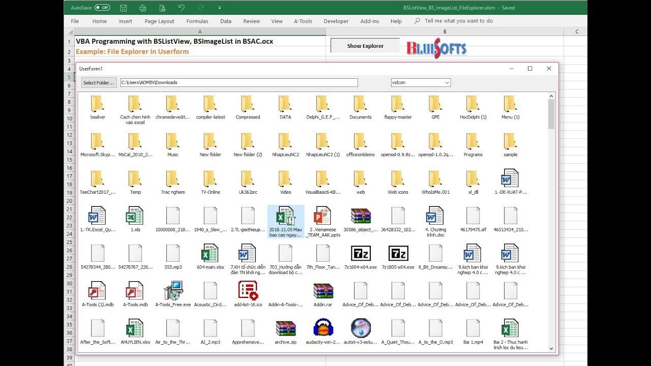 [BSAC] Program File Explorer in VBA - BSListView (listview unicode)