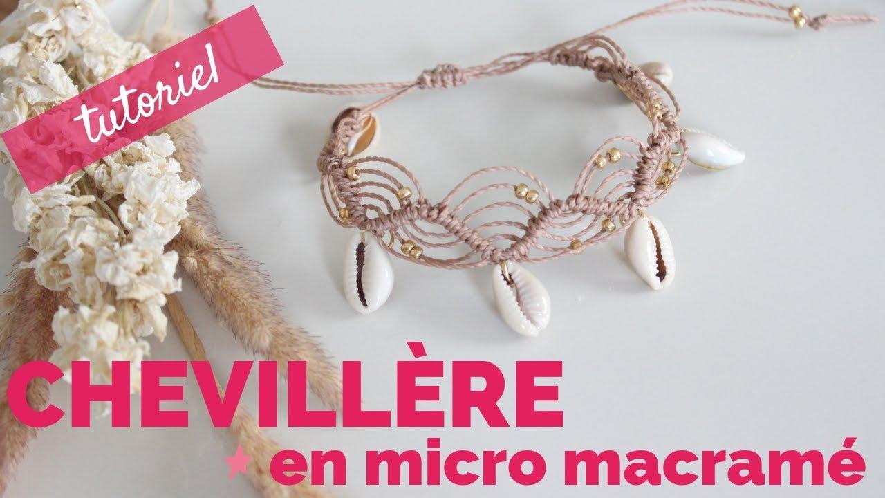 bracelet cheville femme coquillage