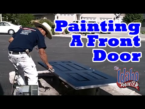How To Paint Your Front Door In One Day.  How to paint a door.  DIY Door painting tips.