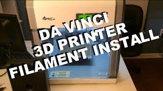 da Vinci 3D printer filament installation
