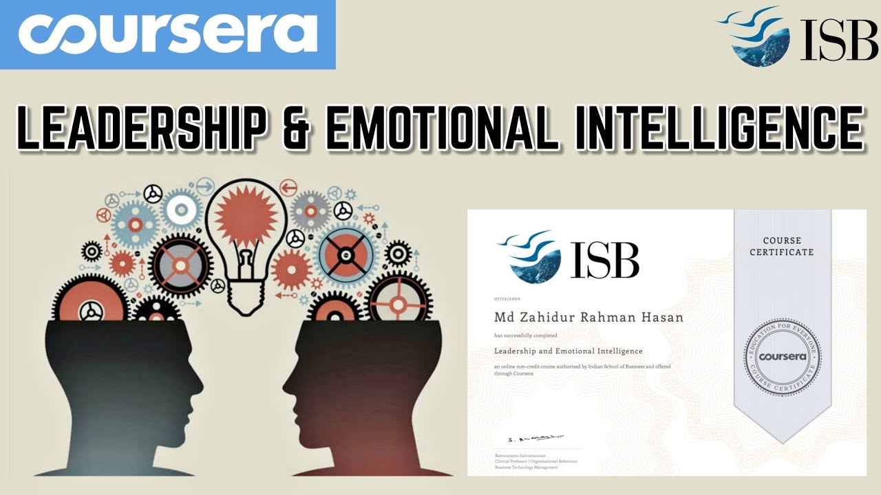 Leadership and Emotional Intelligence ll Coursera Premeuim Course All Quiz Answers For Certificate - YouTube