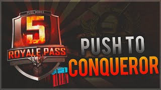 PUBG Mobile : S5 Push to conqueror | Mobile player with scout, maddog, sg