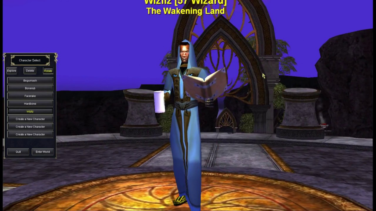 p1999 Everquest level 34-40+ The Overthere Quad Kiting