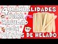 4 ideas navideñas con palitos de helado | GABRIELA.MC