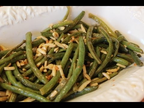 Roasted Green Beans with Toasted Almonds: Classy Cookin' with Chef Stef