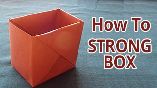 How to make a strong box from paper | DIY - Do it Yourself Origami