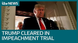 Donald Trump cleared of all charges in Senate impeachment trial | ITV News
