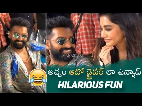 Actress Nabha Natesh Making Hilarious Fun With Ram and Puri Jagannadh | Manastars