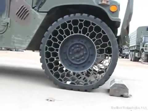Cool New Army Tire Technology No Air Required Cannot Deflate