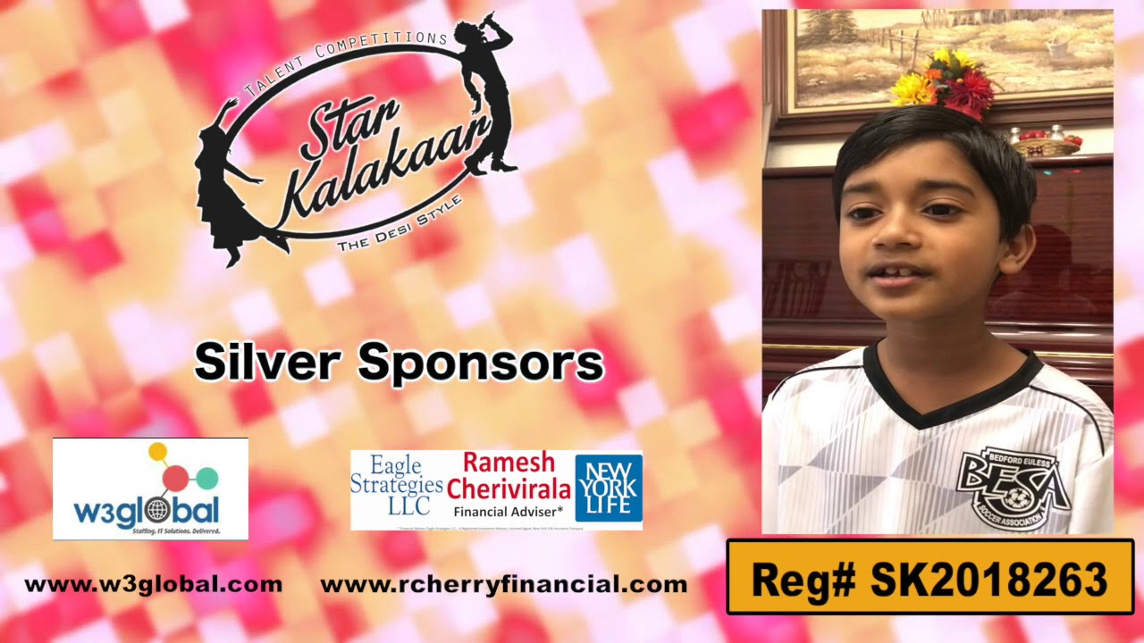 Participant Reg# SK2018-263 Introduction - US Star Kalakaar 2018 || DesiplazaTV