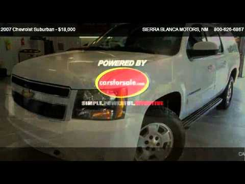2007 Chevrolet Suburban Lt For Sale In Ruidoso Nm 88355