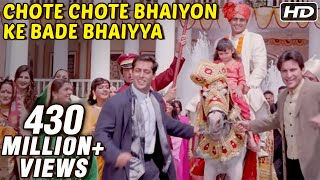 chote chote bhaiyon ke bade bhaiyya hum saath saath hain bollywood wedding song