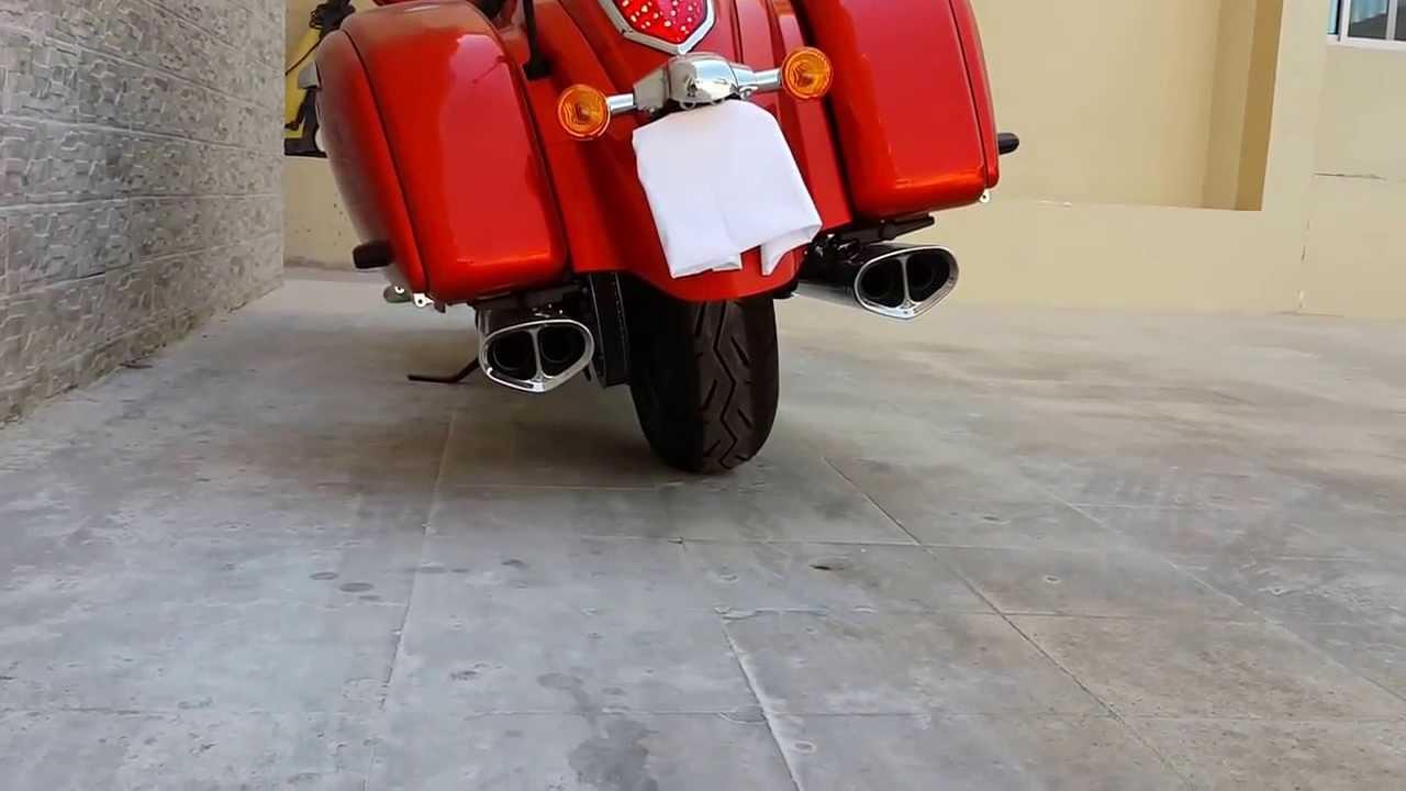 kawasaki vaquero cobra tri oval exhaust - youtube