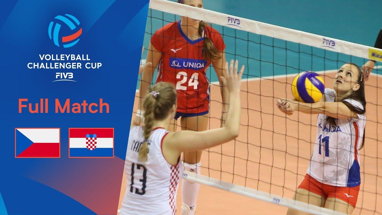 CZECH REPUBLIC vs CROATIA | Full Match | 2019 FIVB Women's Volleyball Challenger Cup
