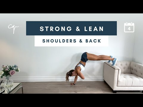 45 Min BACK & SHOULDER WORKOUT   Strong & Lean Series Day 4