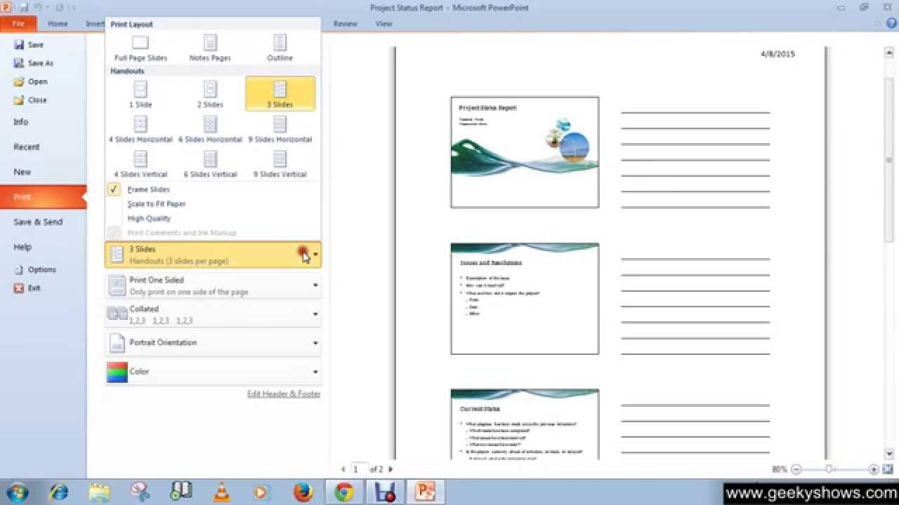 microsoft powerpoint 2010 print handouts and notes youtube