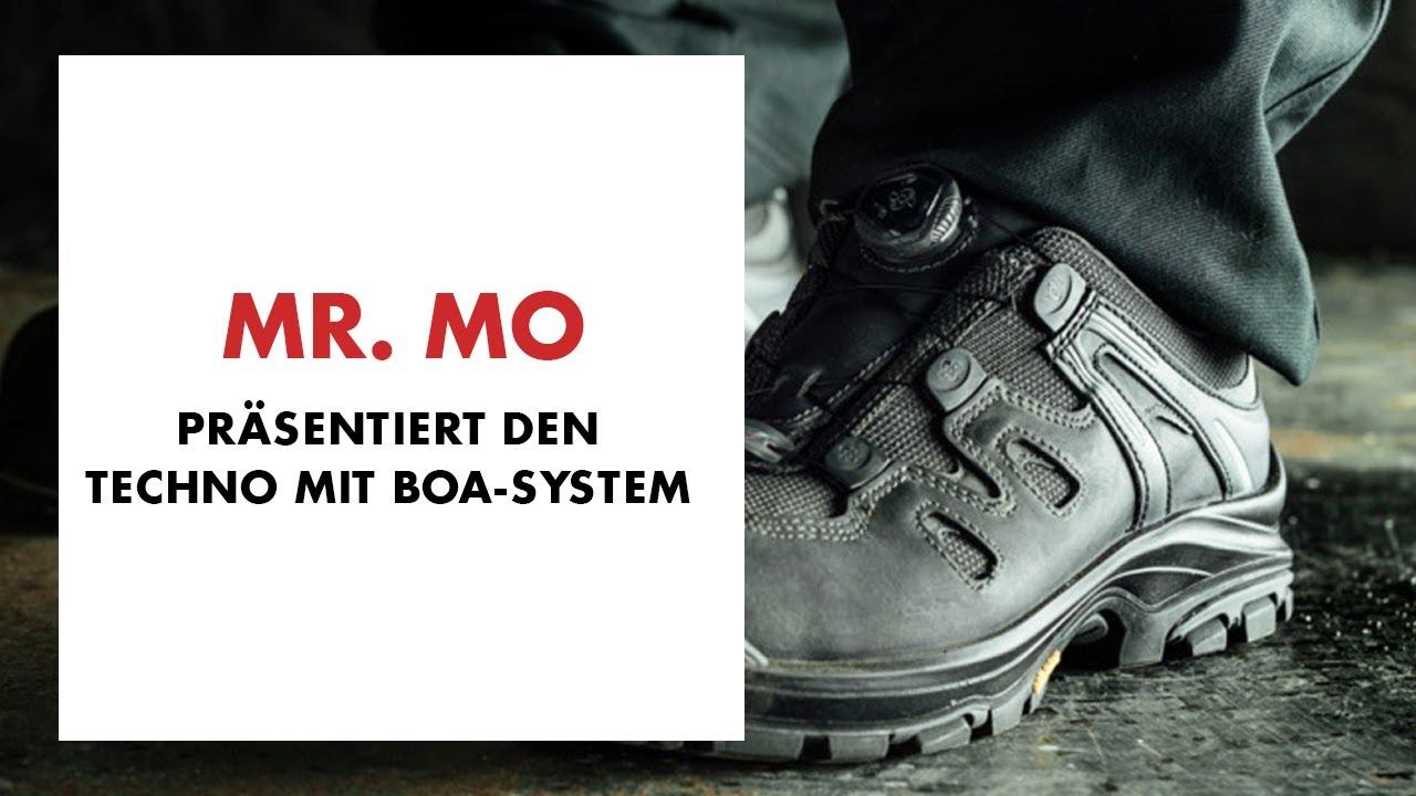 quality design eec74 ee1b1 Techno Style: Mr. MO präsentiert den S3 Sicherheitsstiefel (Techno) mit Boa  Schnellverschluss System