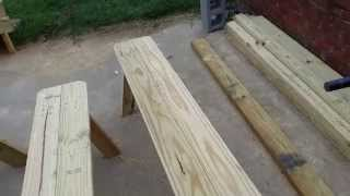 How To Build A Picnic/park Bench For 10$