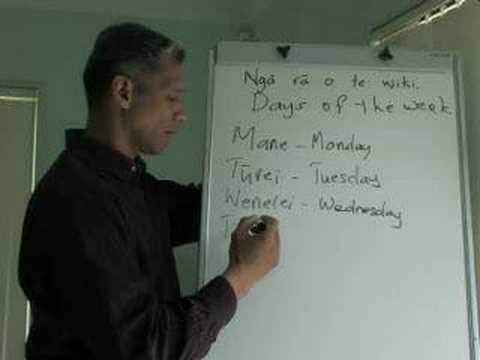 Maori Language Lessons - days-of-week
