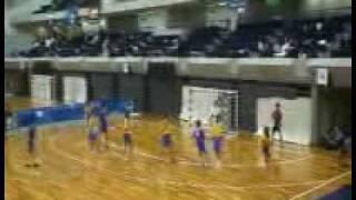 ハンドボール男子・西日本インカレ(福岡大学vs同志社大学)