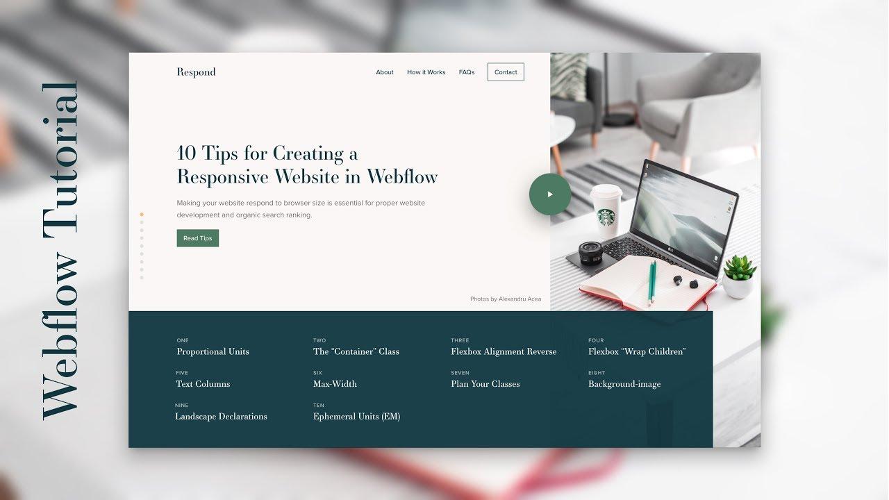 Webflow Tutorial Ten Tips For Creating A Responsive Website Youtube
