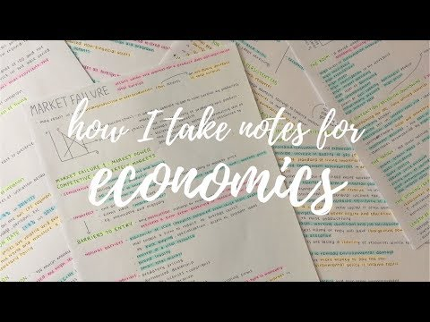 How I Take Notes For Economics | Note Taking Series Ep. 1