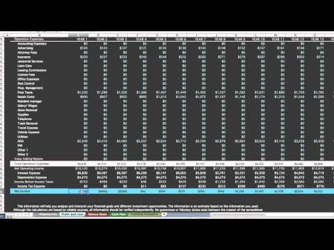 Investment Property Spreadsheet Real Estate Financial analysis
