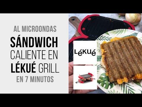 Sándwich caliente en Lékué Grill - Listo en 7 minutos