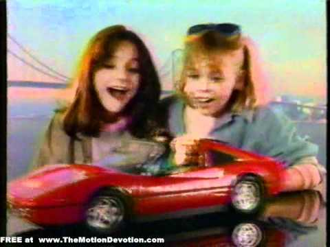 BARBIE Doll drives a FERRARI - 1987 TV commercial