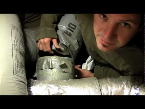 Installing Flexible Duct - Insulated Duct - DIY