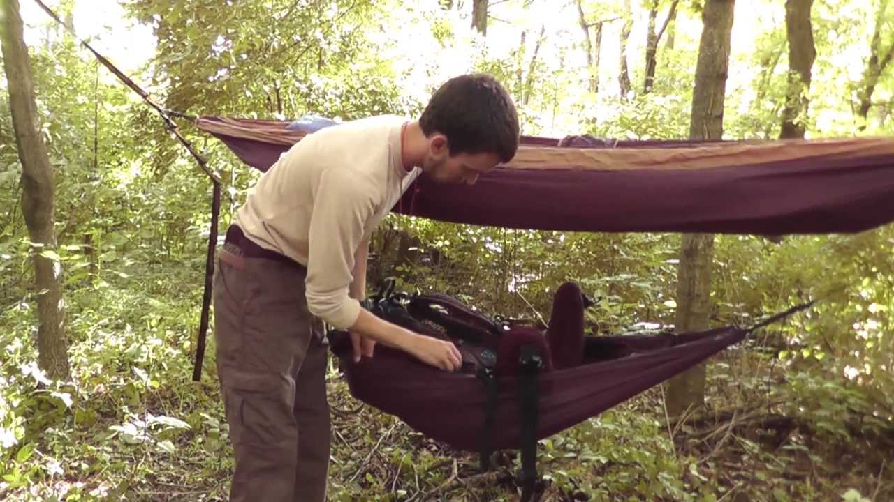 - ENO Underbelly Hammock Gear Sling Review And Set-up - YouTube