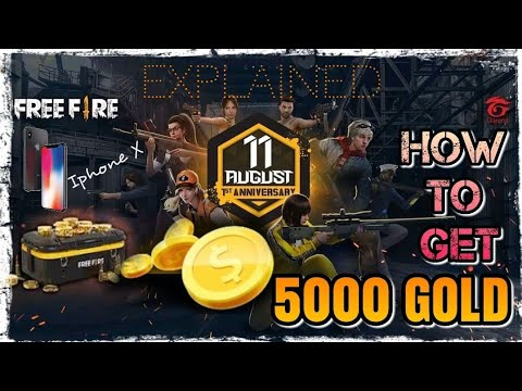 Freefire Bg How To Get 5000 Gold Iphone X Complete Detail Of