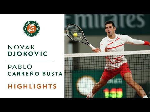 Novak Djokovic vs Pablo Carreño Busta - Quarterfinals Highlights   Roland-Garros 2020
