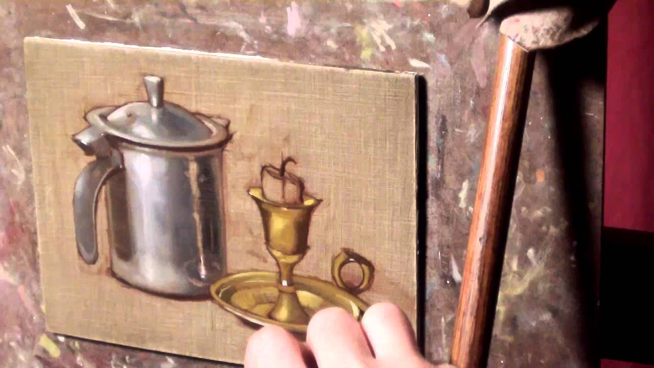 How i paint silver and gold youtube for How to make metallic paint