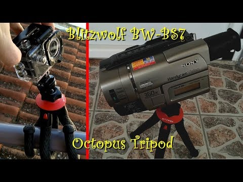 Blitzwolf BW-BS7 Octopus Tripod Unboxing, First Look, Load / Stability / Waterproof Test