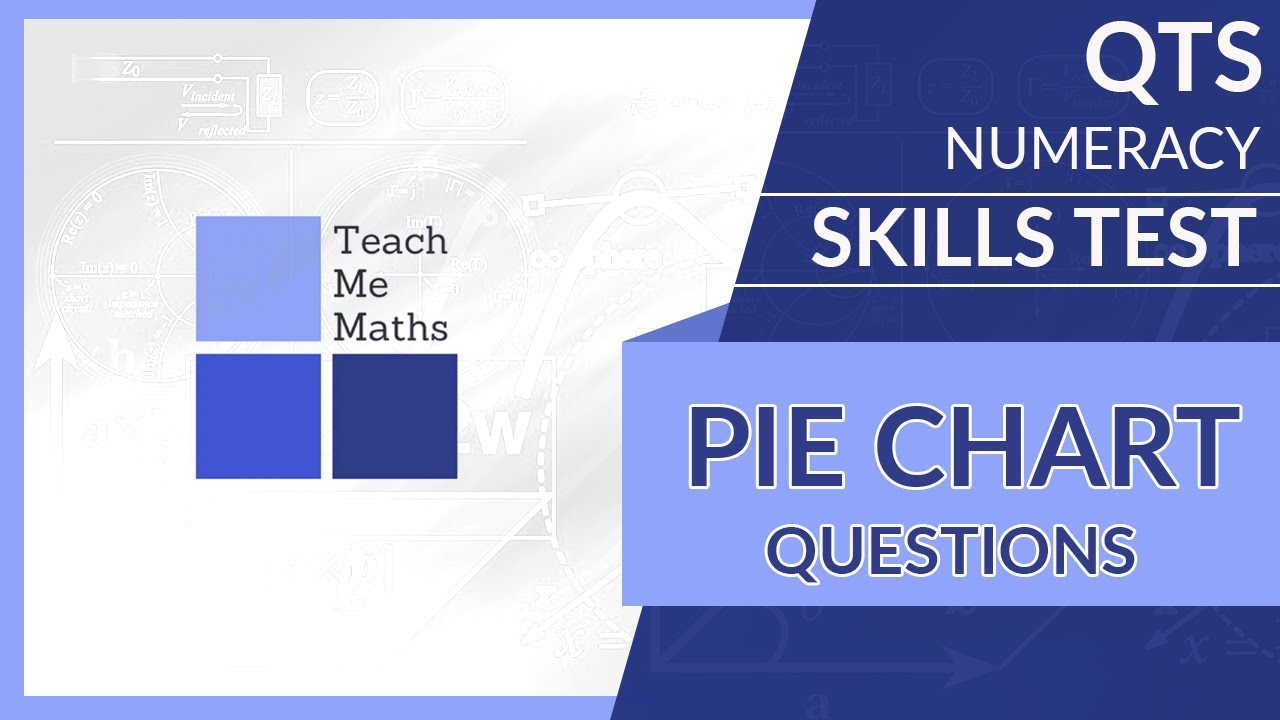 QTS numeracy skills test - Pie chart questions - YouTube