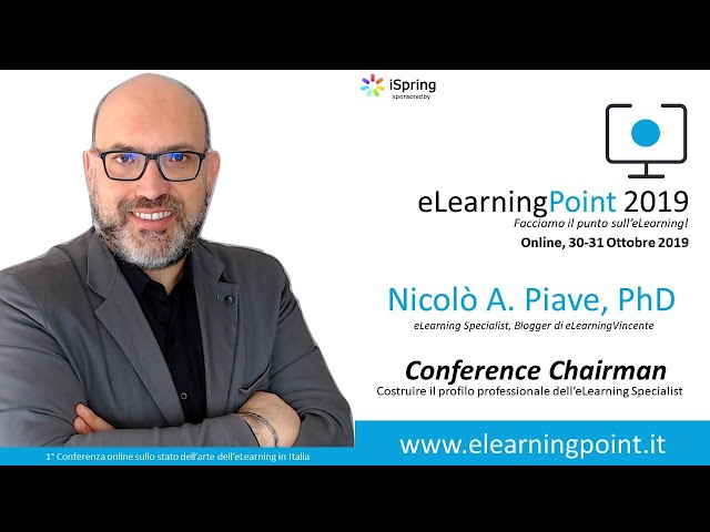 eLearningPoint 2019 - Intervento del dott. Nicolò Piave, PhD, Chairman & eLearning Specialist