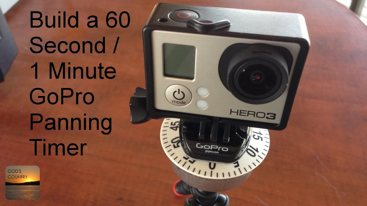Build a gopro 60 second 1 minute 360 degree quick panning for Timer per innaffiare