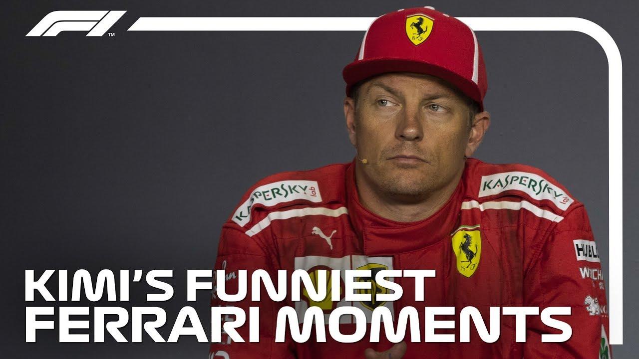 Kimi Raikkonen S Funniest Moments At Ferrari Youtube
