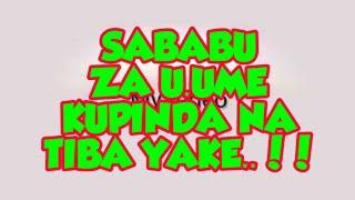UUME KUPINDA - Sababu, Athali zake na Tiba...