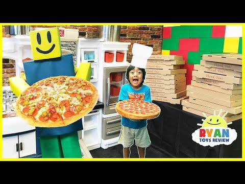 Thumbnail: ROBLOX Work at a Pizza Place In Real Life! Family Fun Kids Pretend Playtime Ryan ToysReview