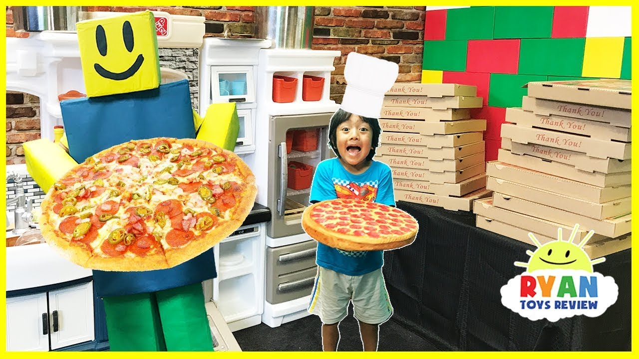 Roblox Work At A Pizza Place In Real Life Family Fun Kids