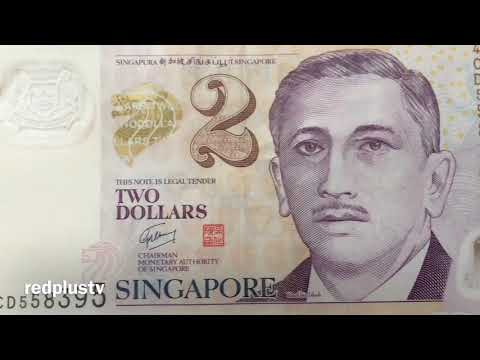 Singapore Dollar Notes Money Currency 50, 10, 5 and 1 note SGD