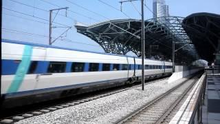 KTX 천안아산역 天安牙山駅を最高速で通過する木浦行KTX